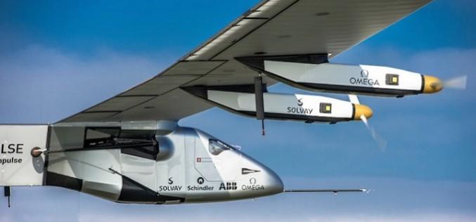 Самолет тръгна около света с енергия от Слънцето