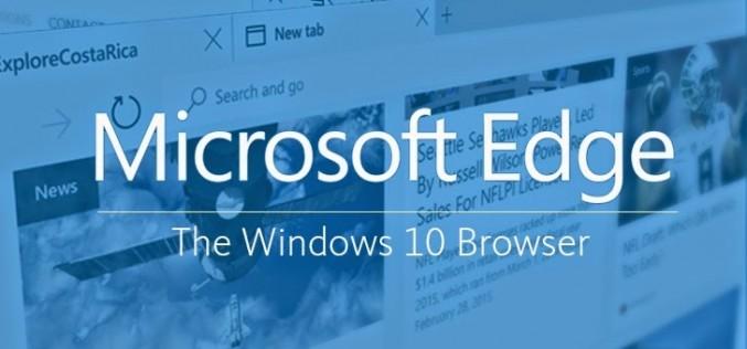 Microsoft представи новия си браузър Microsoft Edge