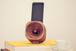 Дървен високоговорител за смартфони