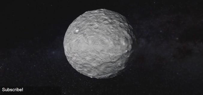 Видео анимация на Церера, съставена от 80 снимки на космическия апарат Даун