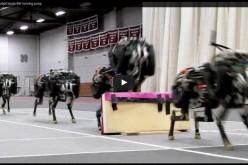 Робот-гепард прескача препятствия