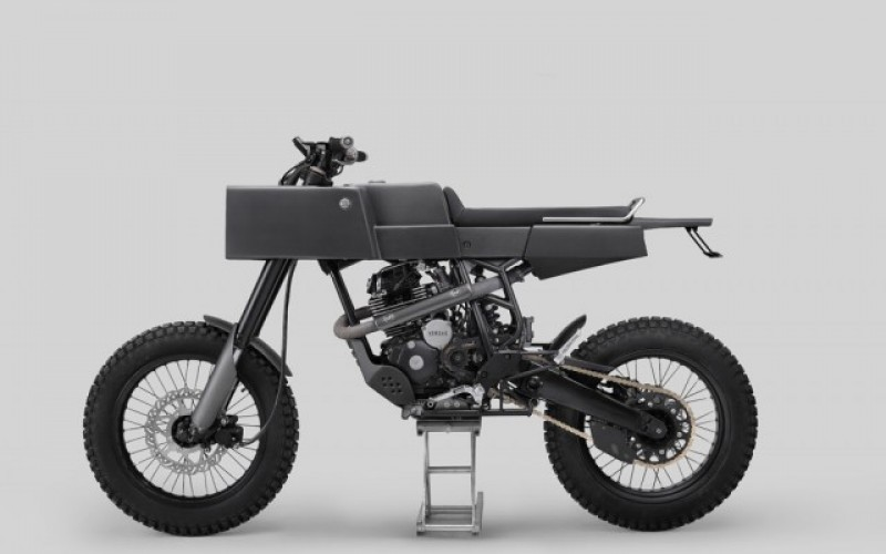Футуристичен мотоциклет от алуминий