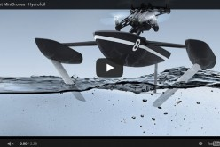 Дрон с подводни крила