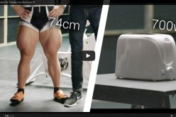Олимпийски колоездач се опитва да изпече филийка в тостер