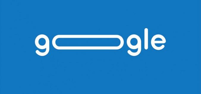 Вижте логото на Google преобразувано в лента за търсене