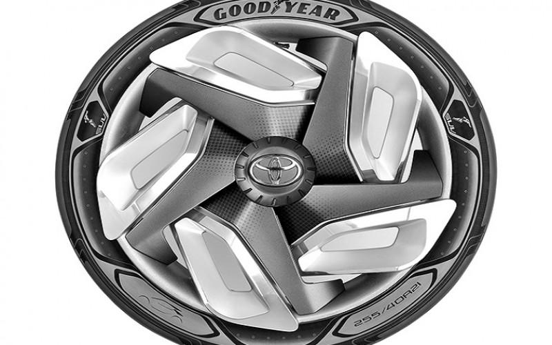 Нов дизайн на гумите Goodyear може да зарежда електромобил в движение