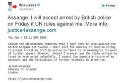 Асандж готов да се предаде след 3 години принудително пребиваване в еквадорското посолство в Лондон