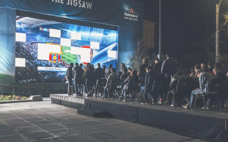 Шампионска лига в центъра на София за отборно гледане