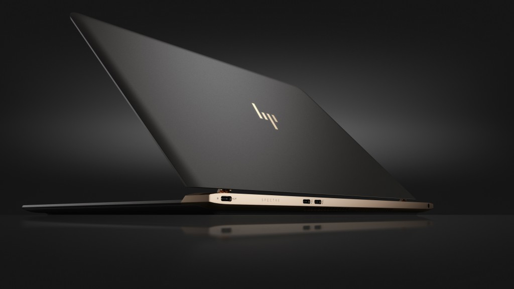 "2c16 – HP Spectre (13"", non-touch, Dark Ash Silver) Hero, Rear facing"