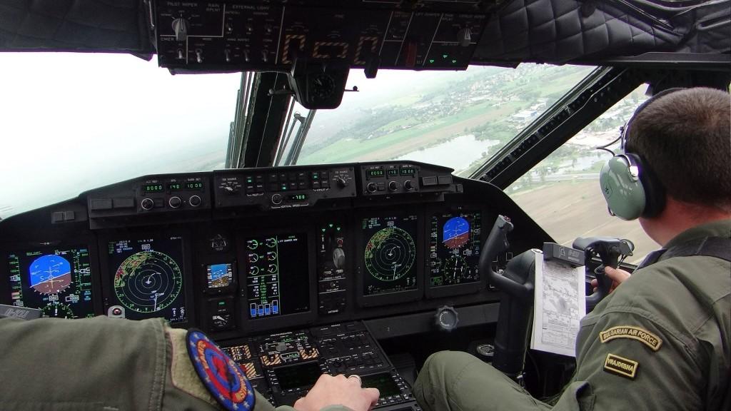 Kadri ot kabinata na C-27J Spartan