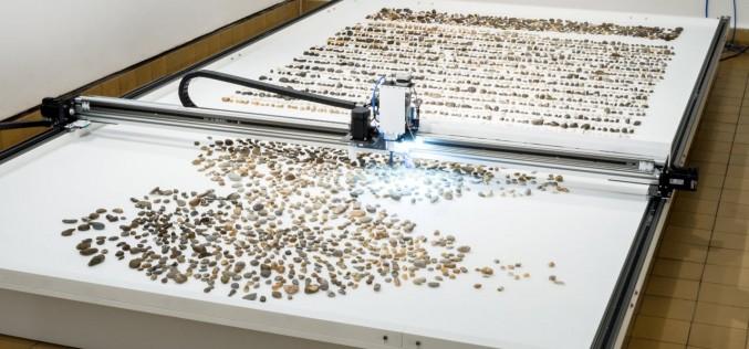 Машина сортира речни камъчета по възраст и вид