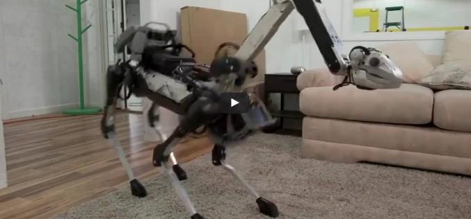 Робот се подхлъзва на обелка от банан