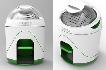 """Остенете """"зелени"""" със задвижвана с педал преносима перална машина"""