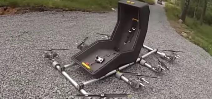 Швед изобрети летящ стол с 8 ротора