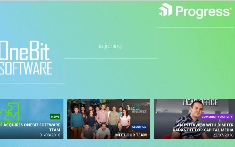Progress придобива екипа на OneBit Software и създава център за дигитална трансформация в България