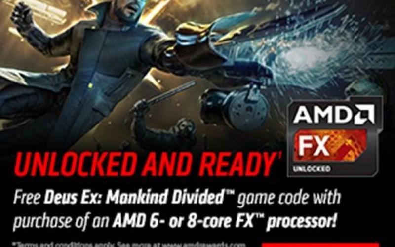 AMD промотира своите FX чипове с безплатен код за Deus Ex: Mankind Divided