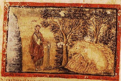 Vergilius_Vaticanus_-_BAV_Lat.3225_-_f69_-_Aeneas_&_the_sow