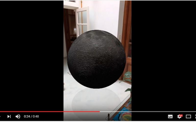 Разработчик използва Apple ARkit, за да пресъздаде кацане на Луната в неговата кухня