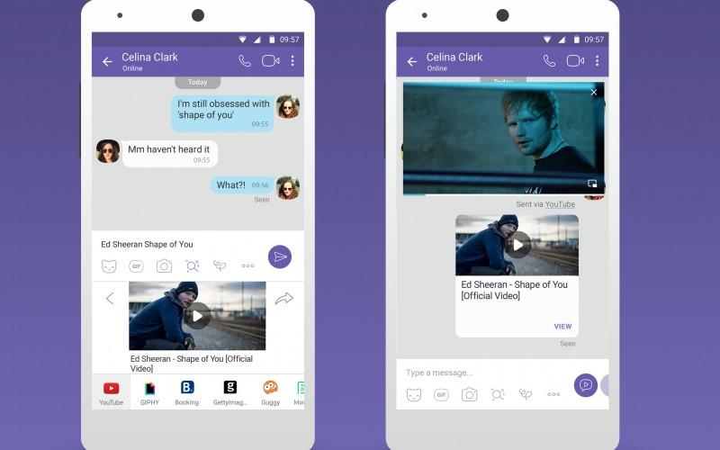 Viber ъпгрейдва ключова функционалност: Chat Extensions предлага достъп до платформи като YouTube, Spotify, VICE, Booking.com и GIPHY