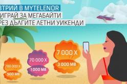 """Теленор раздава 777 000 пакети с МВ в новата кампания """"Дълги уикенди в приложението MyTelenor"""""""