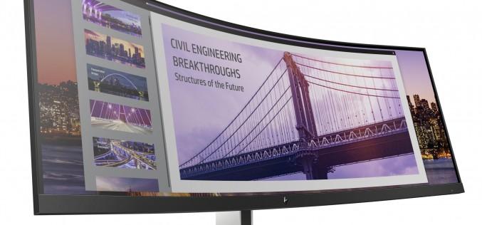 HP представя впечатляващи премиум извити дисплеи, както и аксесоари за офиса и дома