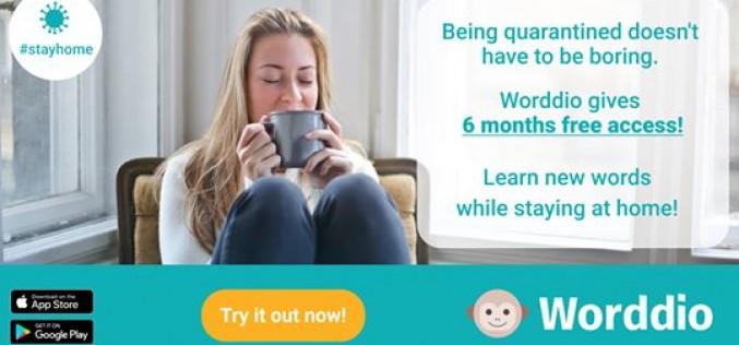 Worddio дарява шестмесечен безплатен достъп на всеки, който иска да подобри езиковите си умения