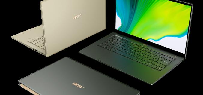 Новият Swift 5 на Acer съчетава стил, портативност и производителност