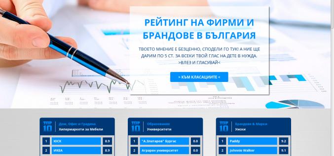 Нова уеб платформа улеснява гражданите да дават независима оценка за фирми и организации