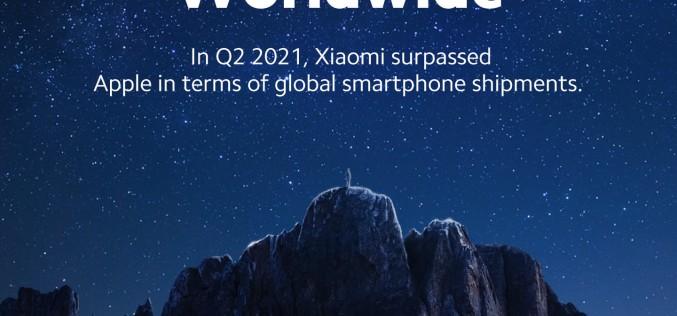 Xiaomi заема второто място в световния пазар на смартфони за първи път в историята си
